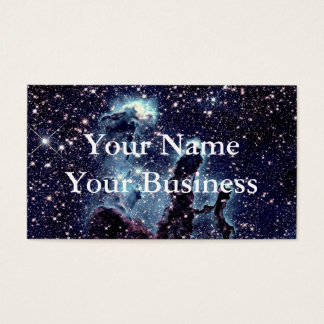 The Pillars of Creation Nebula Blue Business Cards