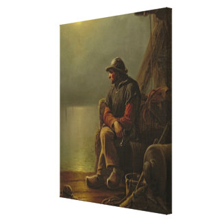 The Pilot Keeps Watch, 1851 Gallery Wrapped Canvas