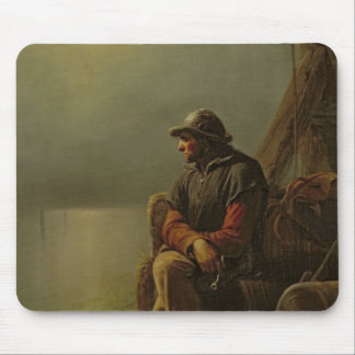 The Pilot Keeps Watch, 1851 Mouse Pad
