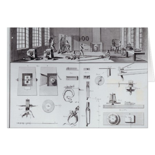 The Pin Factory, plate 2 from Volume IV Card