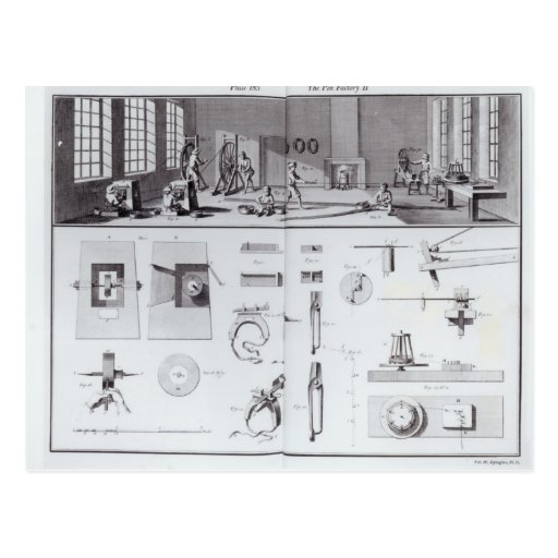 The Pin Factory, plate 2 from Volume IV Post Cards