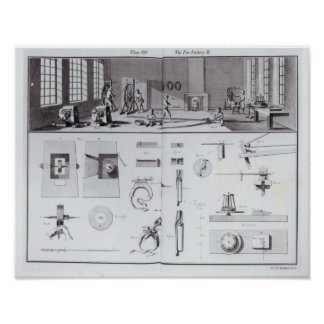 The Pin Factory, plate 2 from Volume IV Poster