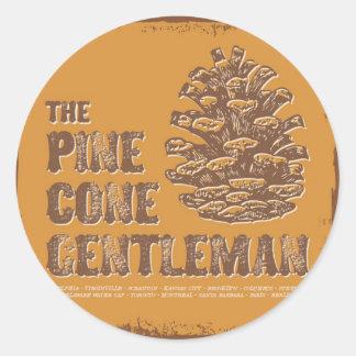 The Pine Cone Gentleman Classic Round Sticker