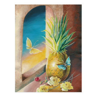 The Pineapple And The Cherry Still Life Art Cards