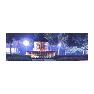 The Pineapple Fountain in Waterfront Park Canvas Print