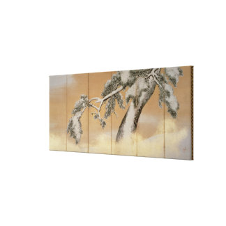 The Pines under Snow Canvas Print