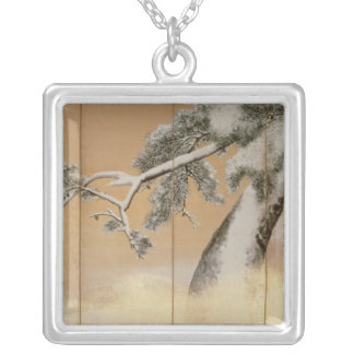 The Pines under Snow Silver Plated Necklace