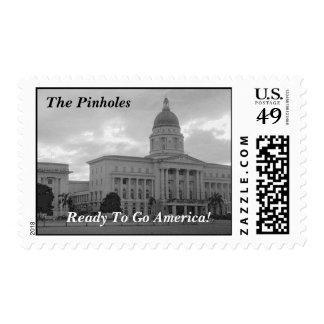 The Pinholes Ready To Go America! Stamp