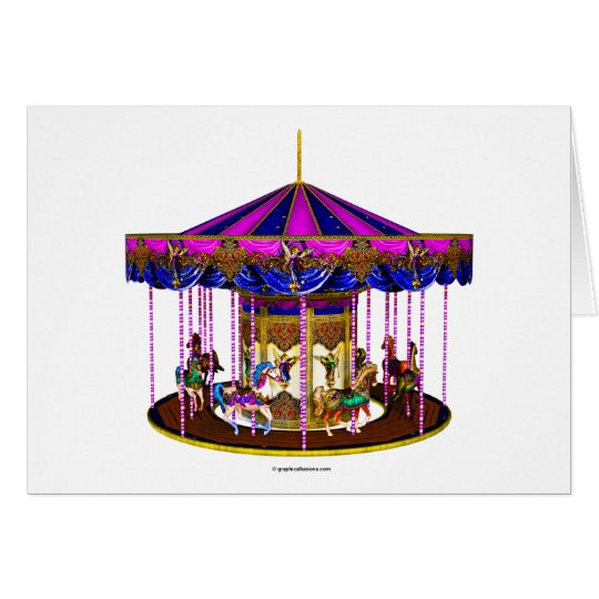 The Pink Carousel Card