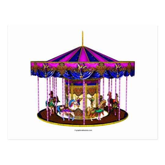 The Pink Carousel Postcard