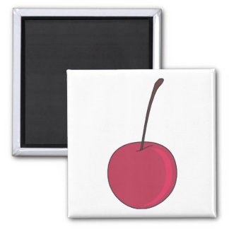 The pink cherry refrigerator magnet
