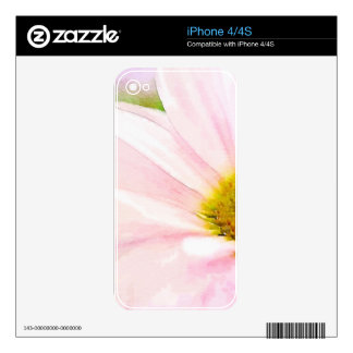 The Pink Daisy Skins For iPhone 4S