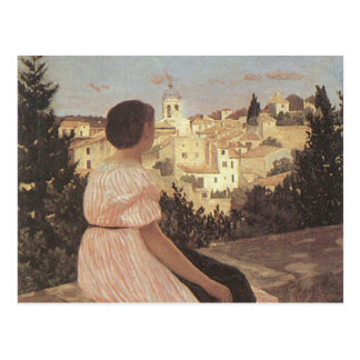 The Pink Dress, Frederick Bazille Postcard