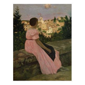 The Pink Dress, or View of Castelnau-le-Lez Postcard