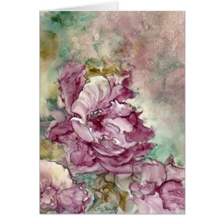 """""""The Pink Flower"""" Painting Card"""