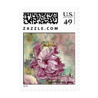 """""""The Pink Flower"""" Painting Postage"""