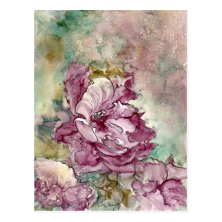"""""""The Pink Flower"""" Painting Postcards"""