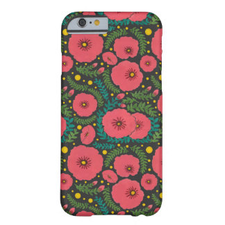 The Pink Flowers and Fireflies Ligh Pattern Barely There iPhone 6 Case