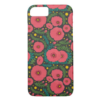 The Pink Flowers and Fireflies Ligh Pattern iPhone 8/7 Case