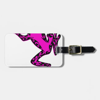 the pink FROG Luggage Tag