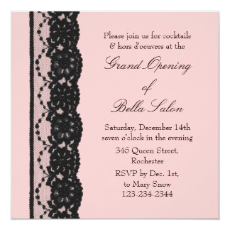 The Pink Grand Opening French Lace Invitation