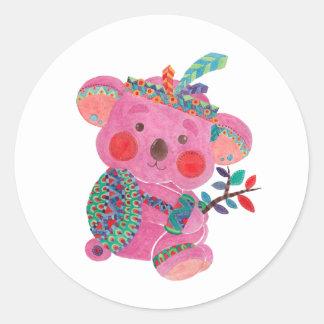 The Pink Koala Classic Round Sticker