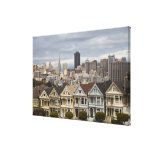 The Pink Ladies Victorian style houses in the Canvas Print