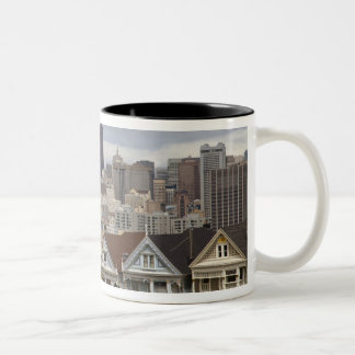 The Pink Ladies Victorian style houses in the Two-Tone Coffee Mug