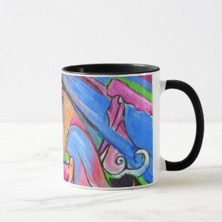 The Pink Moon Lovelies Ringer Coffee Mug
