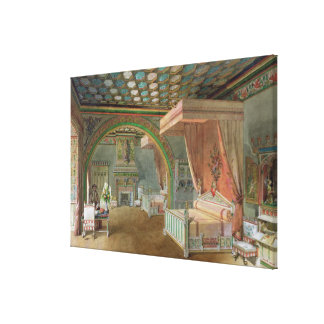 The Pink Room in the Chateau de Roquetaillade Canvas Print