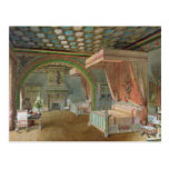The Pink Room in the Chateau de Roquetaillade Post Card