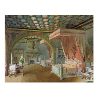 The Pink Room in the Chateau de Roquetaillade Postcard