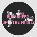 The Pink Sheep Black Sticker