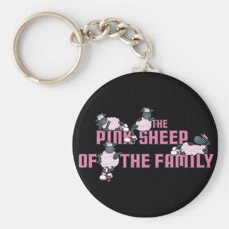 The Pink Sheep Blck Keychain