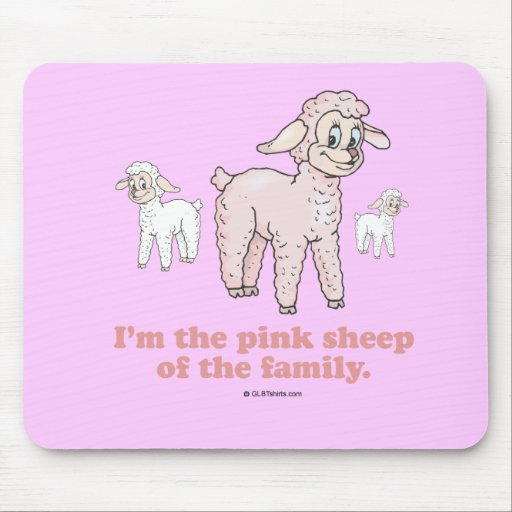 THE PINK SHEEP MOUSE PAD
