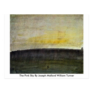 The Pink Sky By Joseph Mallord William Turner Postcard