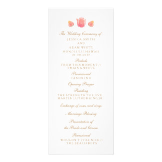 The Pink Tulip Wedding Program