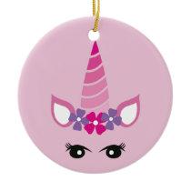 The Pink Unicorn Ceramic Ornament