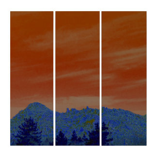 The Pinnacles In Abstract Triptych