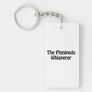 the pinnipeds whisperer Double-Sided rectangular acrylic keychain