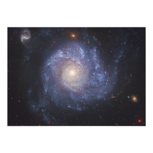 The Pinwheel Galaxy Messier 101 NGC 5457 Custom Announcement