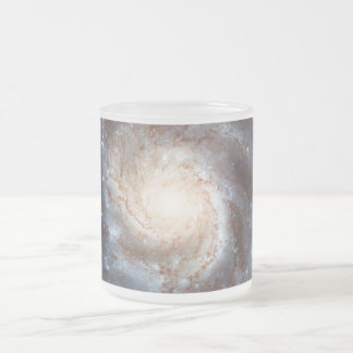The Pinwheel Galaxy NGC 5457 Messier 101 Frosted Glass Coffee Mug