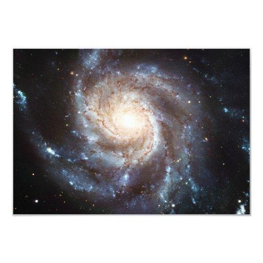 "The Pinwheel Galaxy NGC 5457 Messier 101 3.5"" X 5"" Invitation Card"