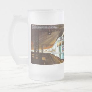 The Pioneer Zephyr 1934 Frosted Glass Beer Mug