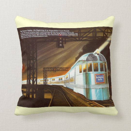 The Pioneer Zephyr 1934 Throw Throw Pillow