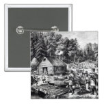 The Pioneer's Home on the Western Frontier 2 Inch Square Button
