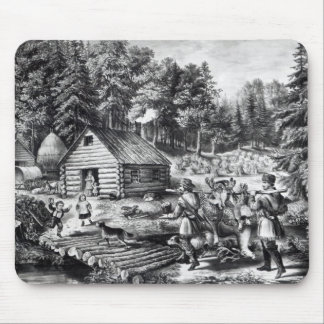 The Pioneer's Home on the Western Frontier Mouse Pad