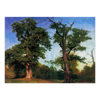 The pioneers of forests by Bierstadt Poster