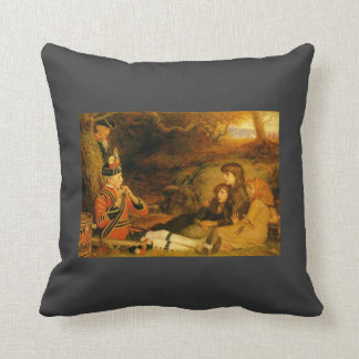 The Piper by John Everett Millais Throw Pillow