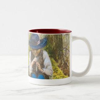 The Piper Dreams, by Estalla Canziani Two-Tone Coffee Mug
